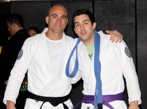 Michael getting his purple belt